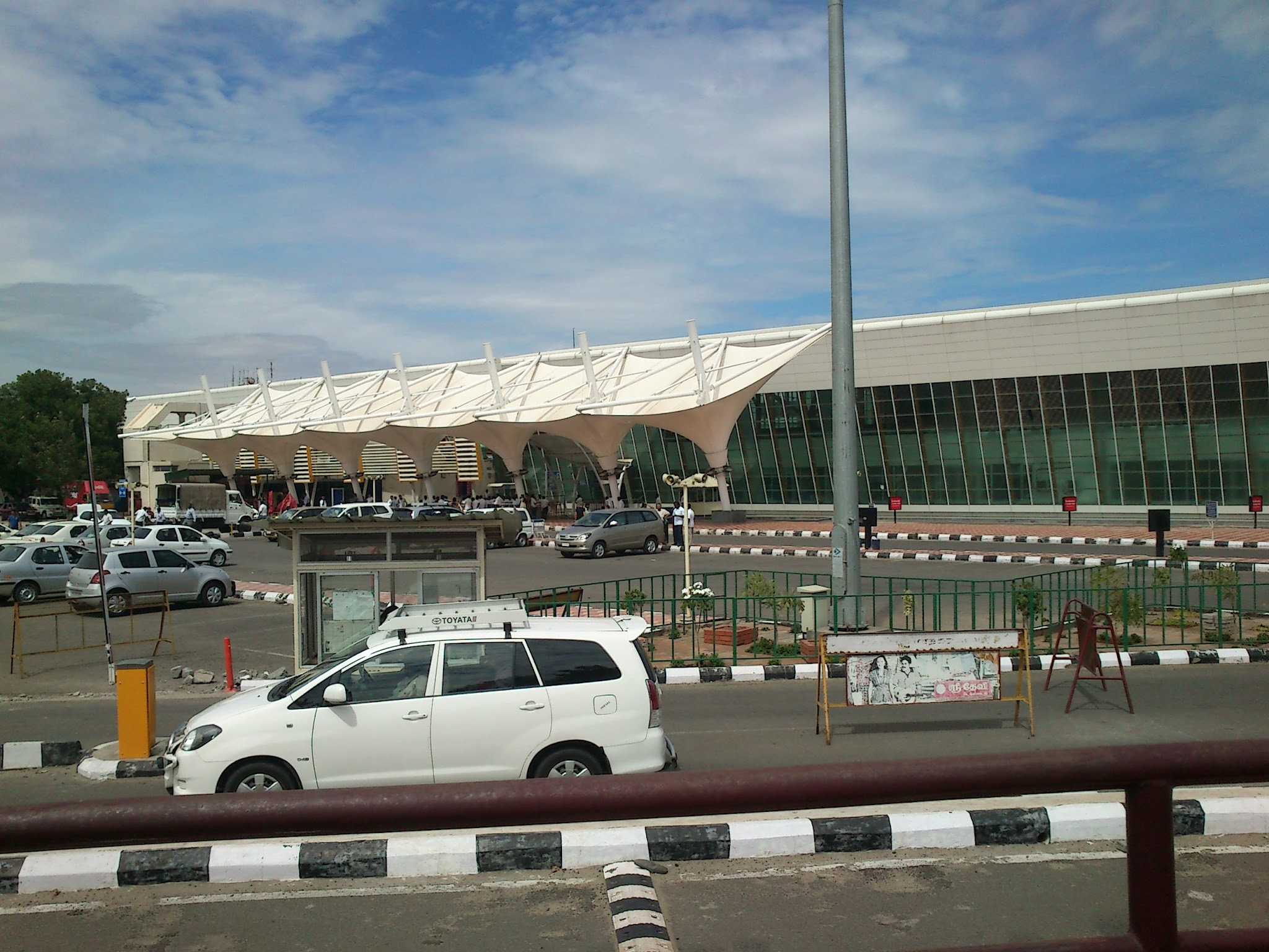 Coimbatore Airport has a single runway.